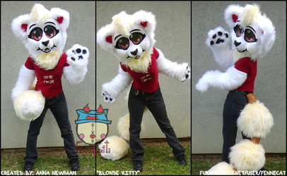 FennéCrafts - Blonde Kitty Partial Suit (2017) Sold!