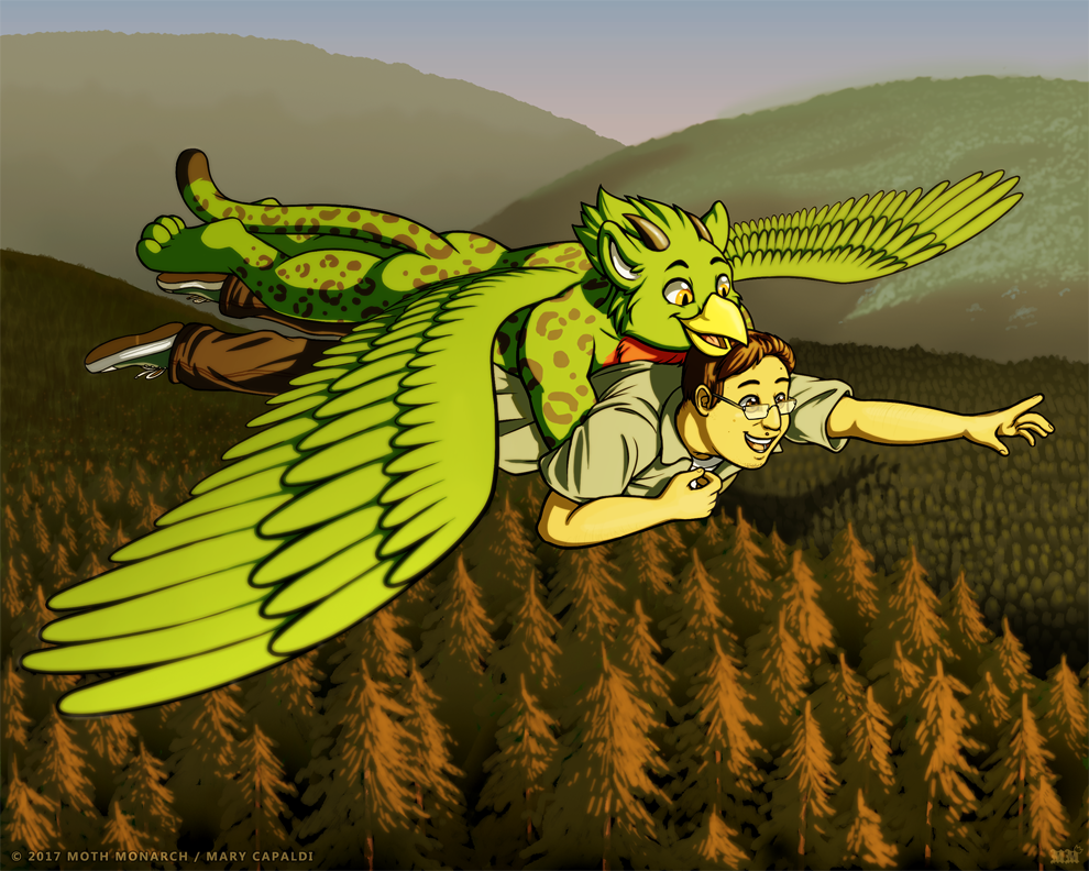 Flight Over the Forest