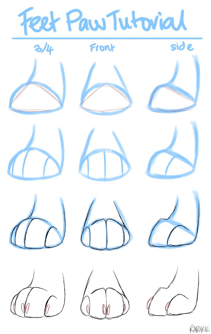 Super simple feet paw tutorial