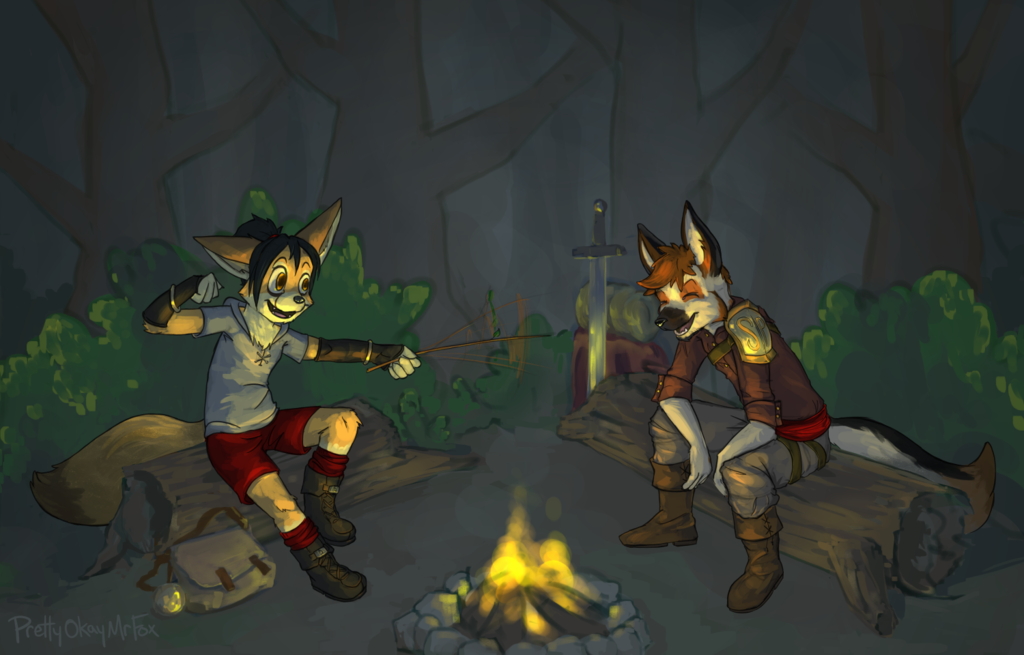 Tellin' Camp Fire Stories with Shade
