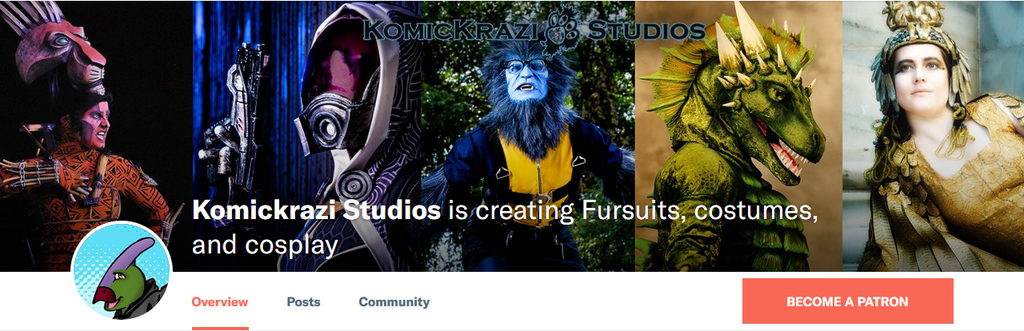 Most recent image: Komickrazi Studios now has a Patreon!
