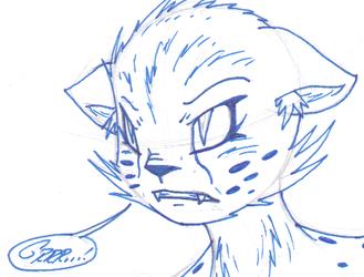 Misc. Anthro Art - Animated Cheetah (Scribble)