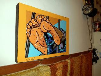 Beautiful feet painting