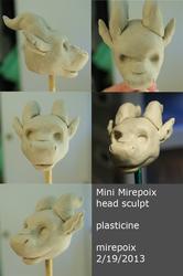 Mini Mirepoix head sculpt