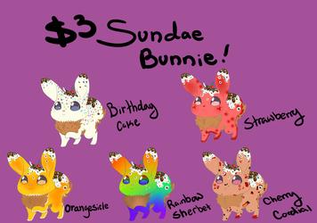 3$ sundae bunnies!