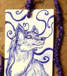 Blue Fox Illustrated Bookmark