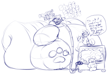 Plush Sketchmission - Overstuffed EricSkunk by Nemo