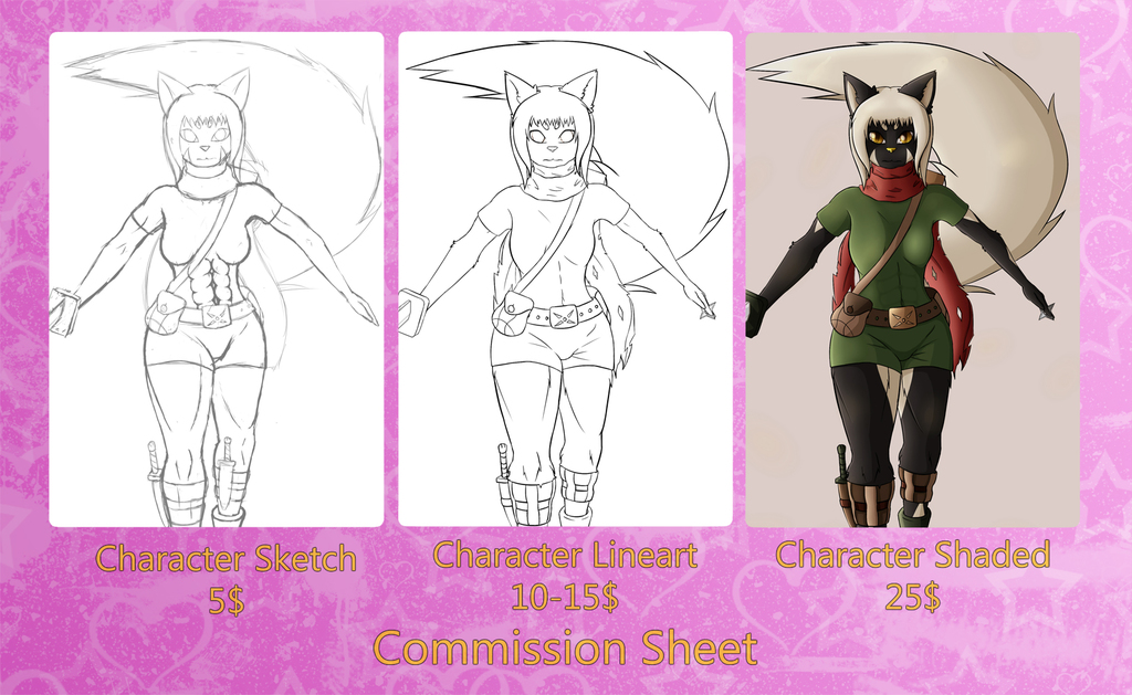 Most recent image: Commission Sheet
