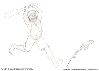 Max chasing a frog -sketch-