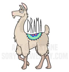 Drama Llama Sticker