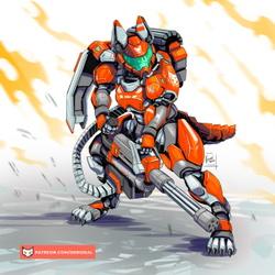 Vixen Power armor (helmet on)