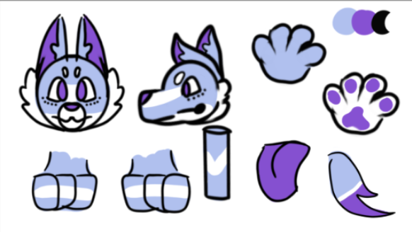 Most recent image: Korra The Wolf Ref Sheet