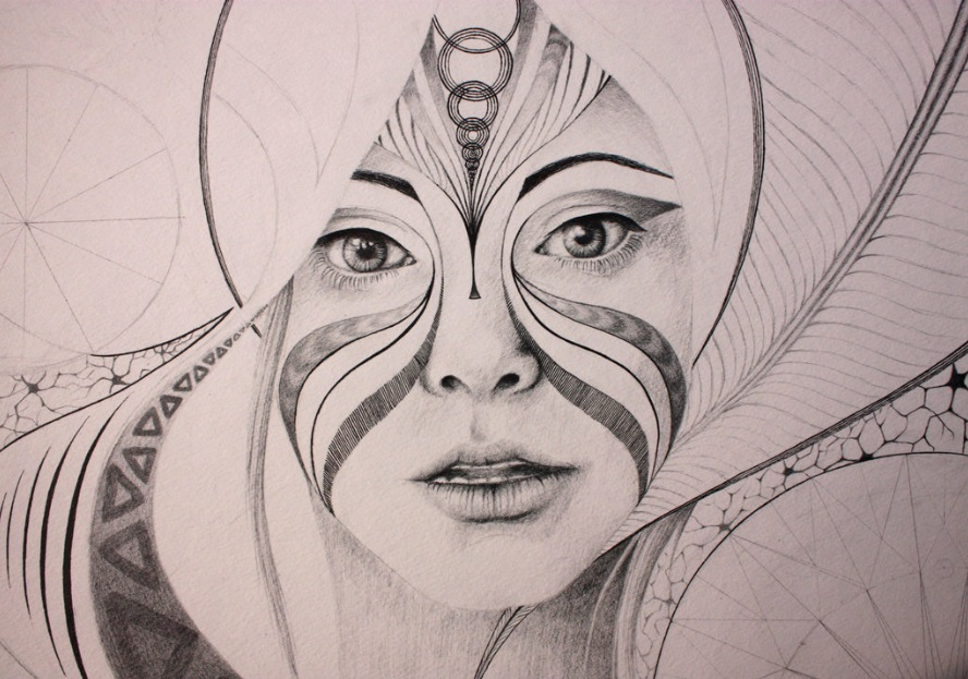 Most recent image: Abstract Portrait - WIP