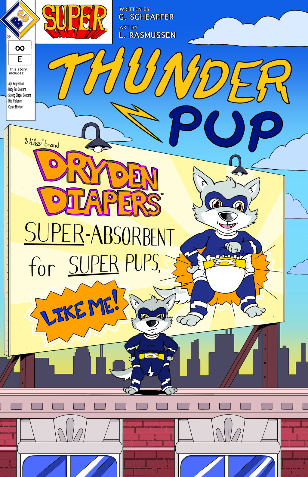 "Most recent image: ""Thunder Pup"" Official Comprehensive Comic Cover"