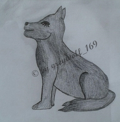 sitting dog, shaded 1