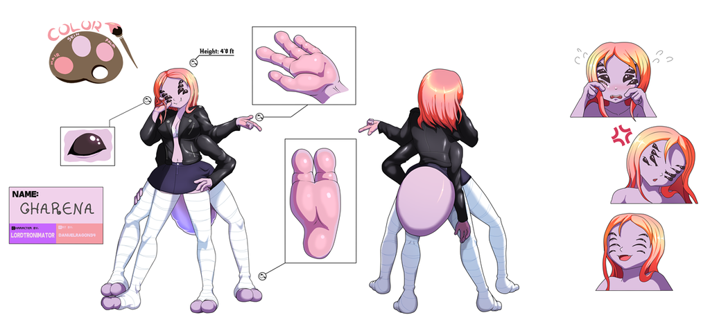 Most recent image: Charena Reference Sheet || Commissioned by tronimator