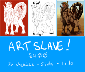 ART SLAVE FOR A MONTH - February 2014