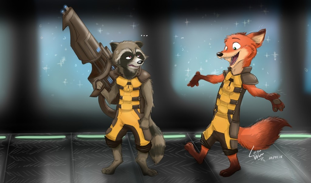 Rocket Raccoon & Rocket Fox (?)