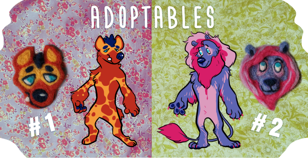 Adoptables+ Felted Brooches!!! - OPEN