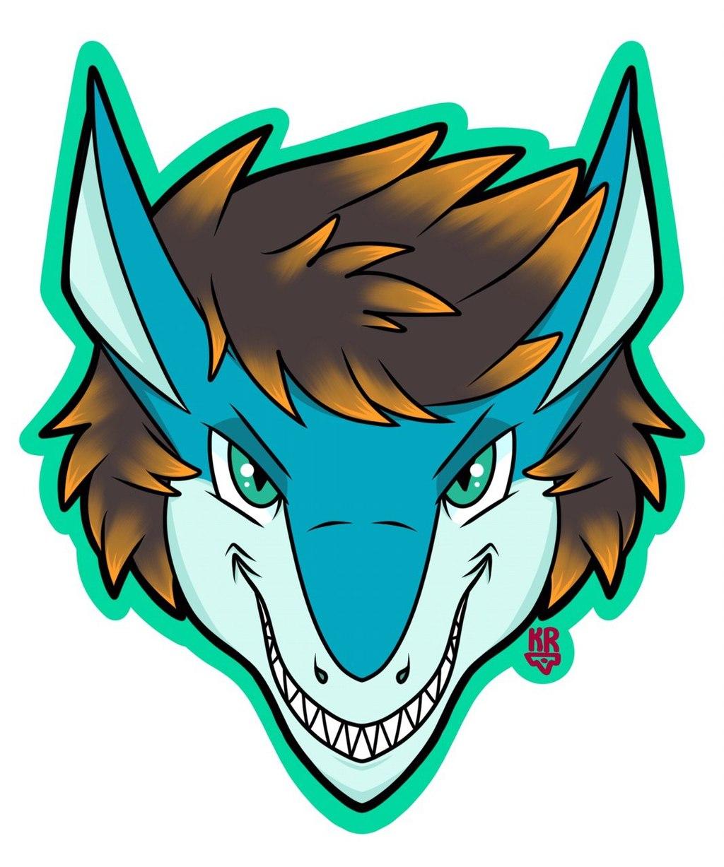 Rio Sky Symmetrical Headshot Badge