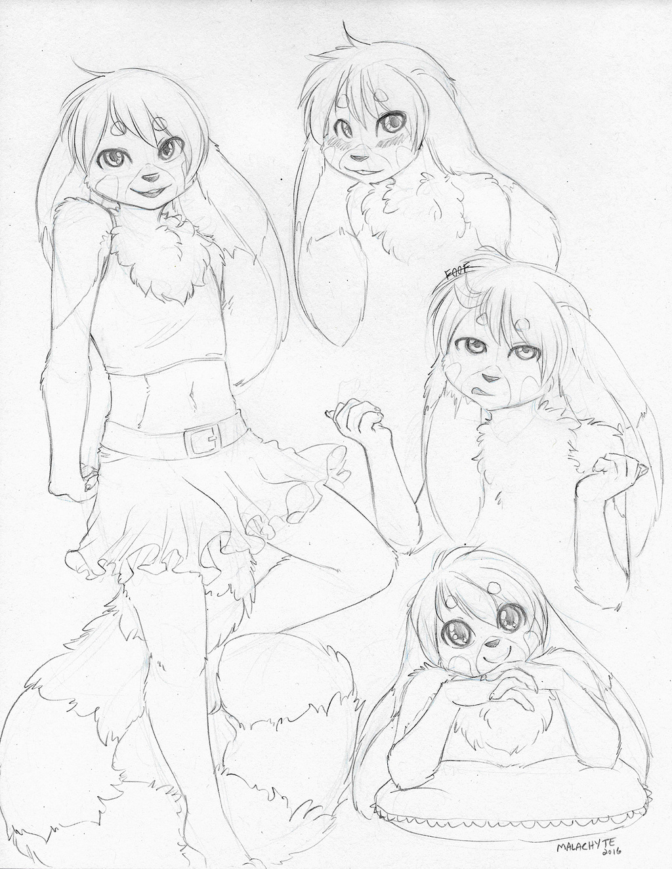 [AC Comm] Noodles Sketch Page
