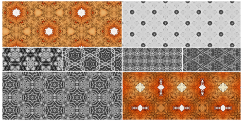 Kaleidoscope tiling patterns
