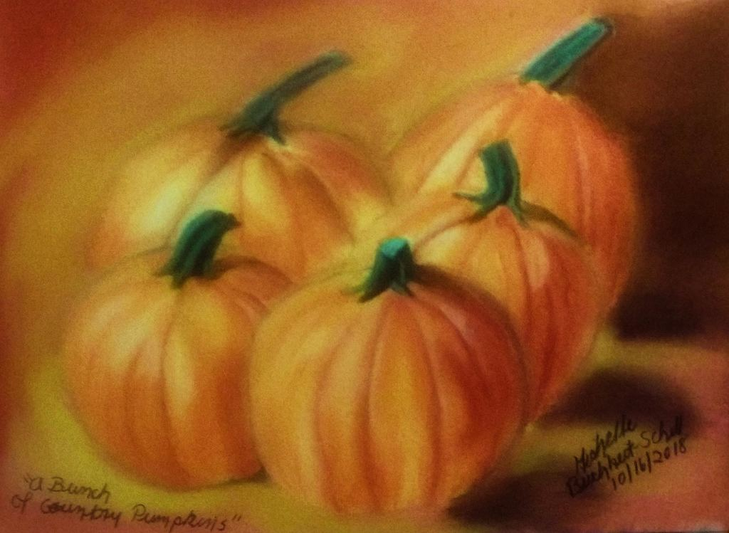 A Bunch Of Country Pumpkins