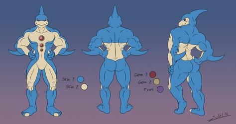 Neo Spacian Aqua Dolphin Model Sheet
