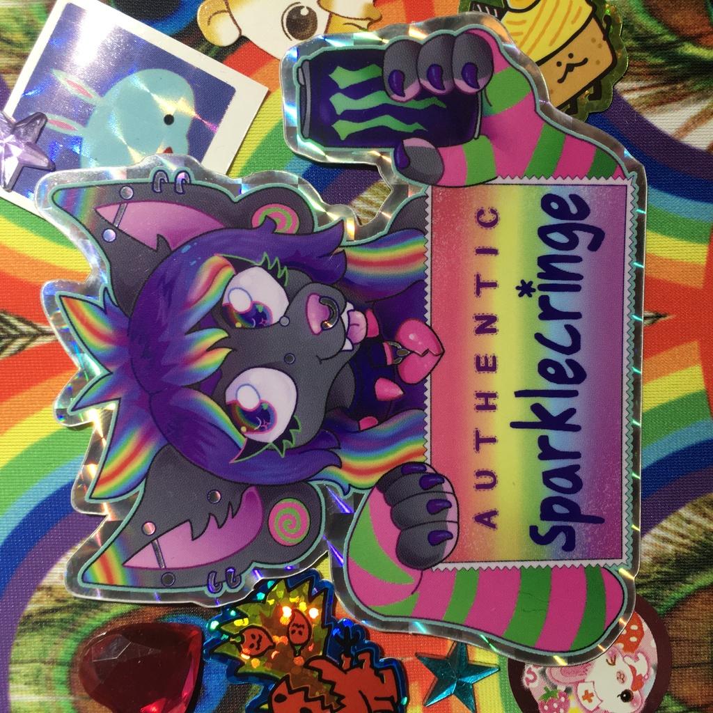 AUTHENTIC SPARKLECRINGE Sticker