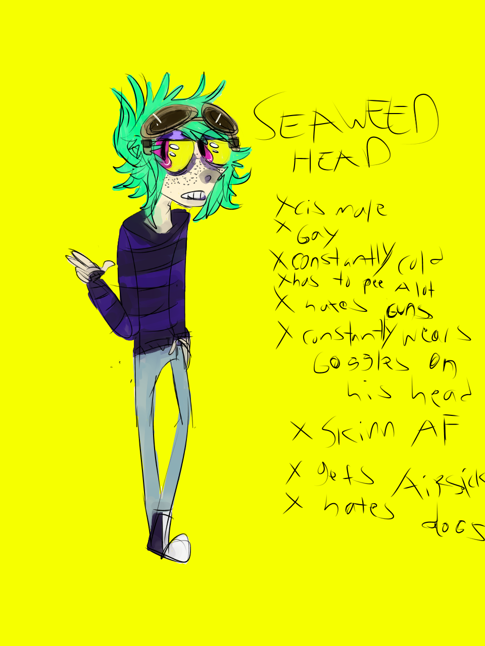 Seaweed Head Ref sheet
