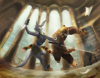 Library Battle