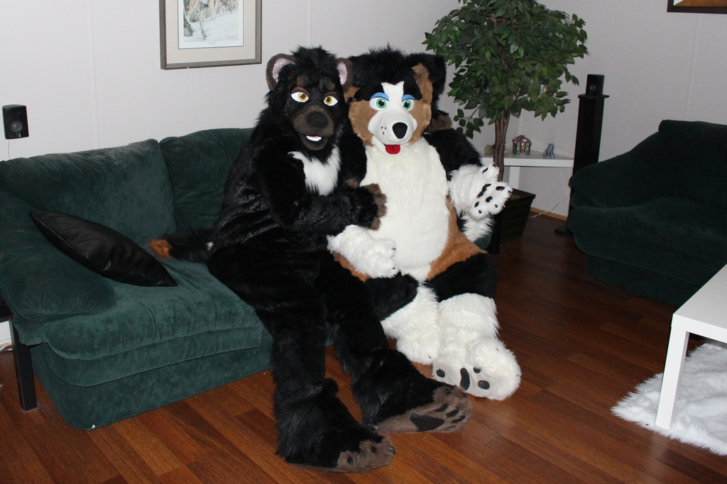 Xander With His Puppy Friend 1