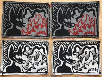 "(FOR SALE) ""FIRE STARTER"" Screen Printed Patches"