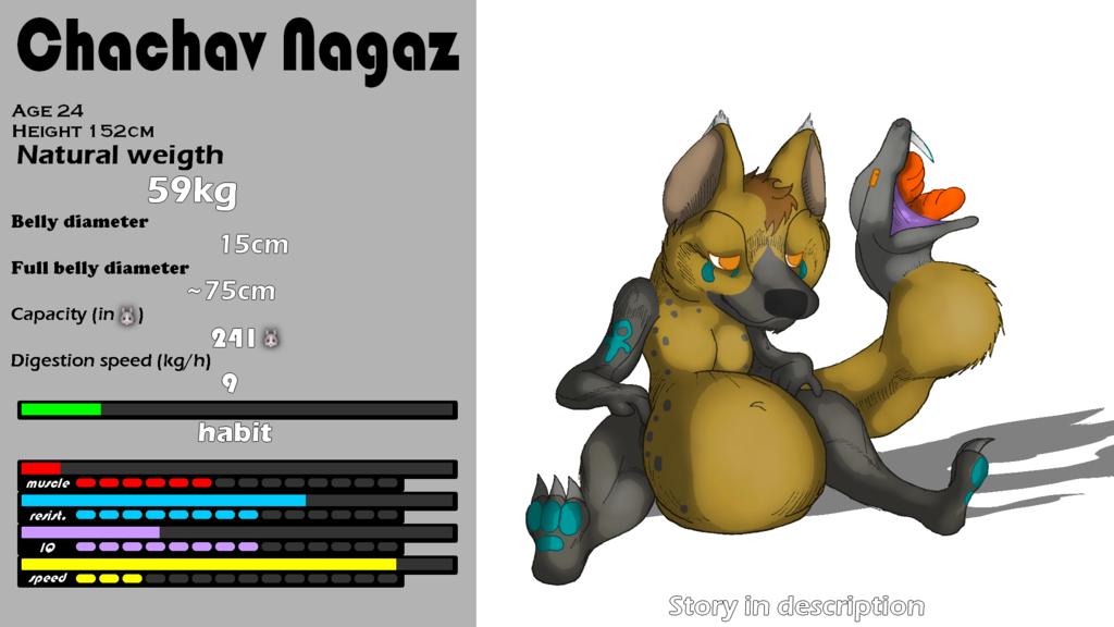 Vore ref - Chachav Nagaz (Hybrid hyena) (Free art)