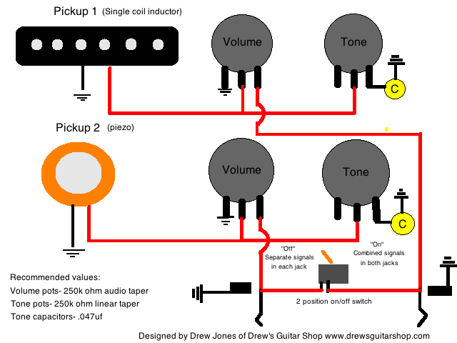 acoustic electric stereo mono wiring weasyl rh weasyl com Jazz Bass Wiring Diagram Acoustic Guitar Piezo Pickup
