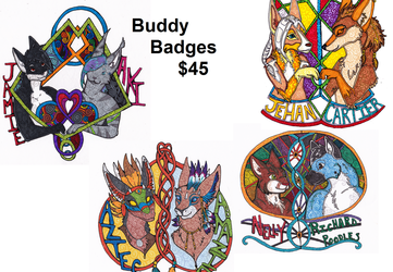 Spiral Style Buddy Badges:$45