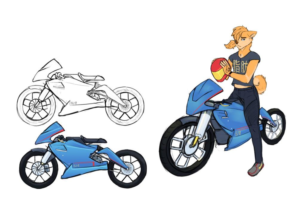 scifi concepts, bike