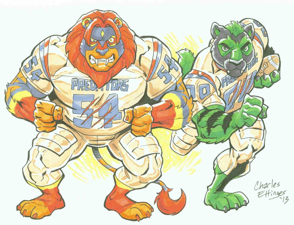 Sabercat Duo of the Predators Football Team