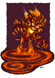 [COMMISSION] Chaos & Brimstone for JxW-SpiralofChaos