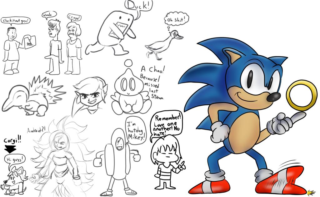 Mugi Draws Greg Martin Sonic