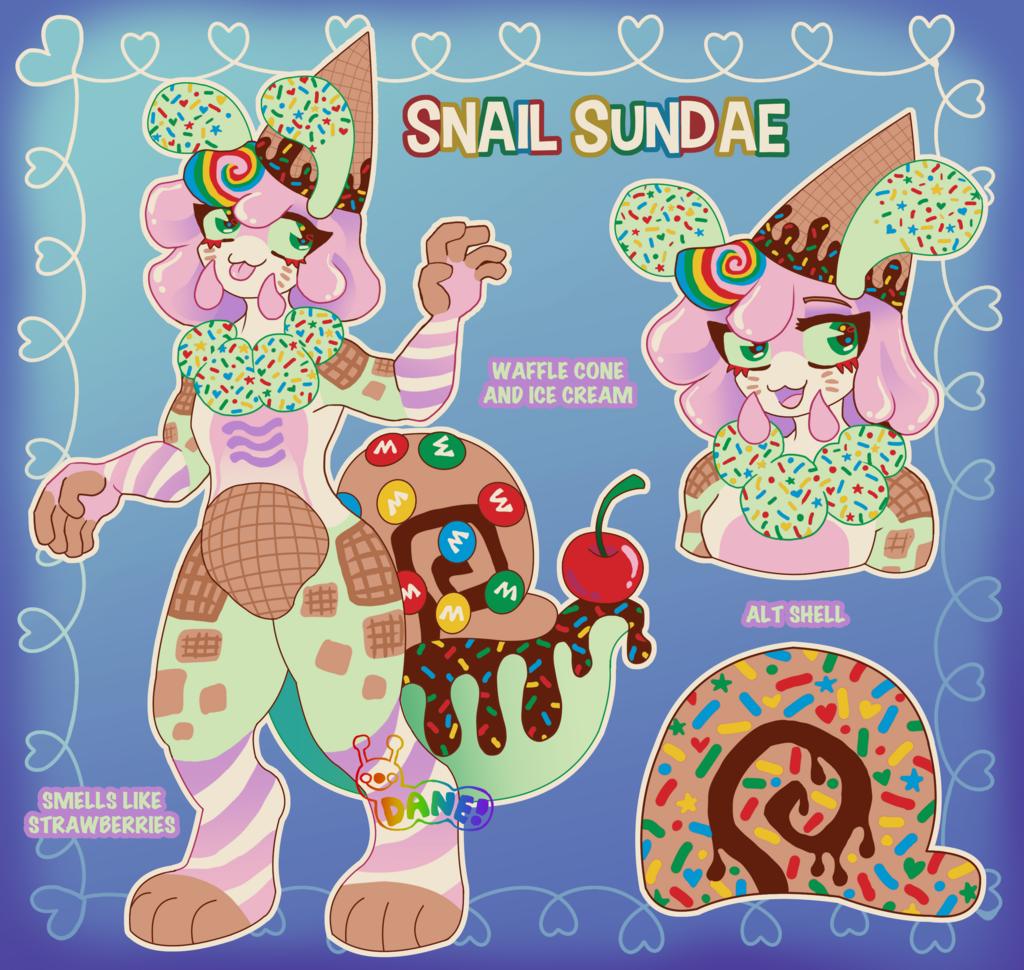 (SOLD) Snail Sundae Adopt