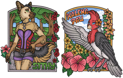 Kalena Pau and Sithy - Large Conbadges