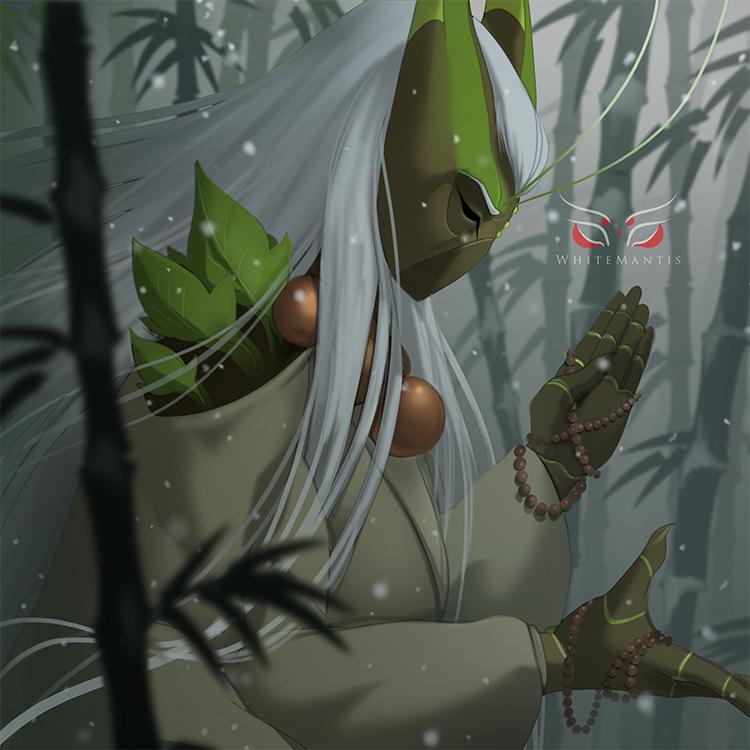 Blade Under Mask Portrait: Eien