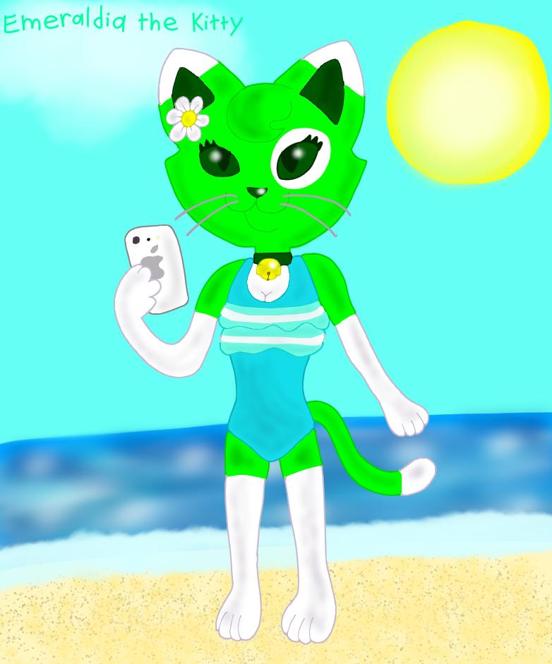Most recent image: Anthro Emeraldia in Swimsuit