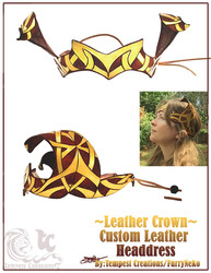 Celtic Horns Leather Crown
