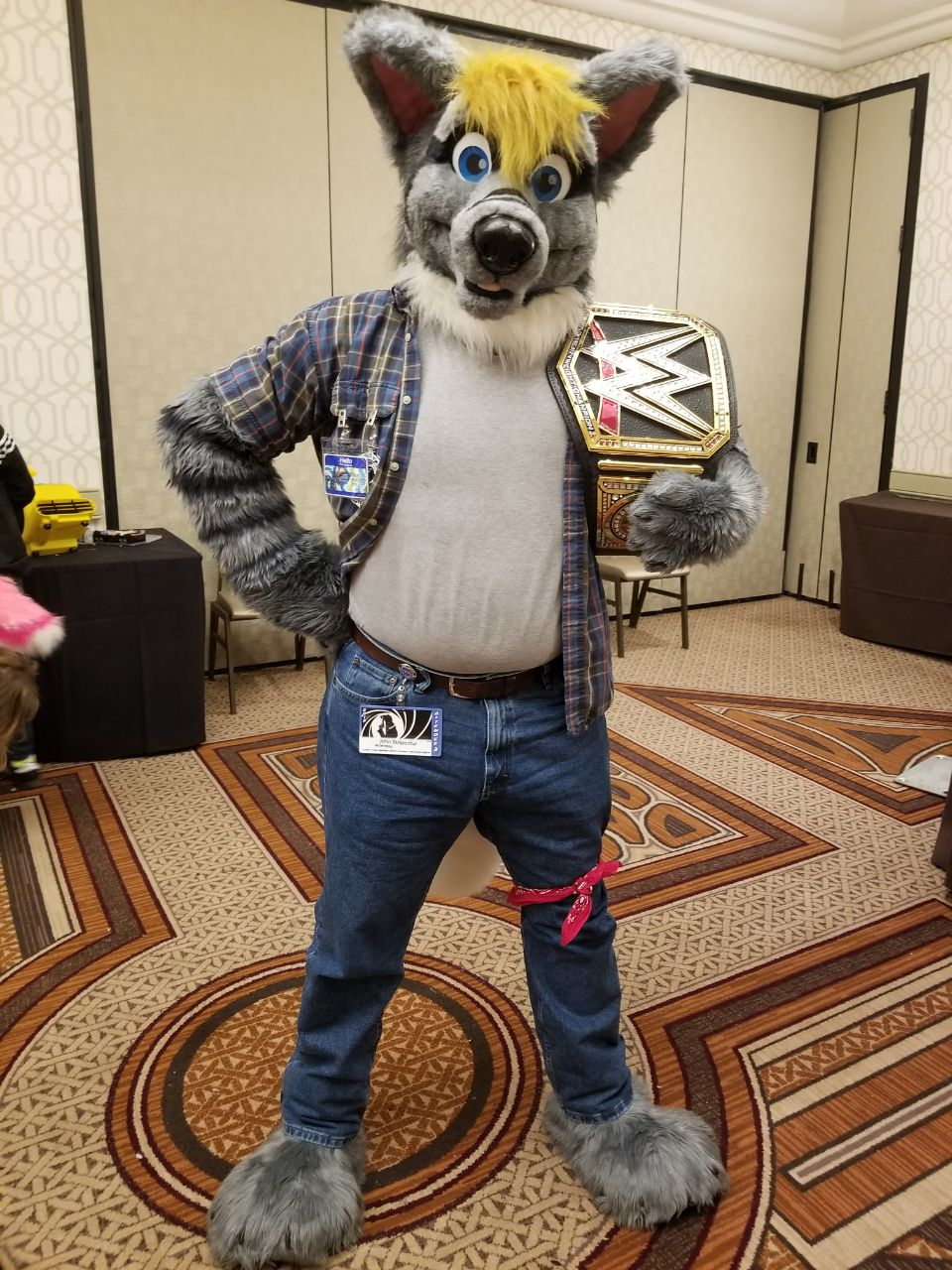 Most recent image: Stripedfur w/ new title belt