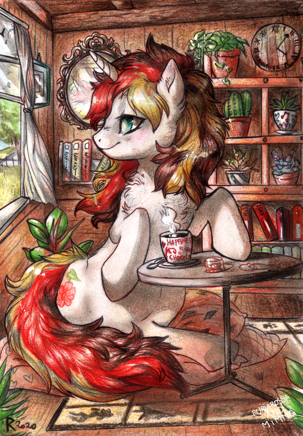 Commission - Happiness is... hot chocolate!