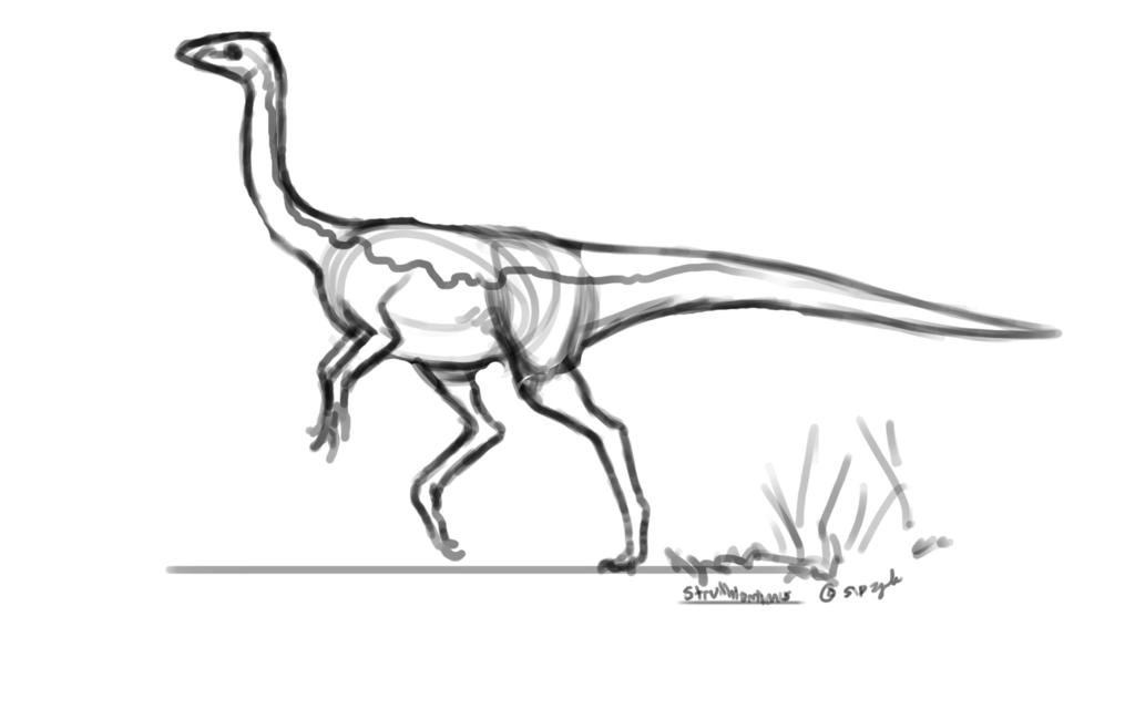 Dinovember - 14 - Struthiomimus