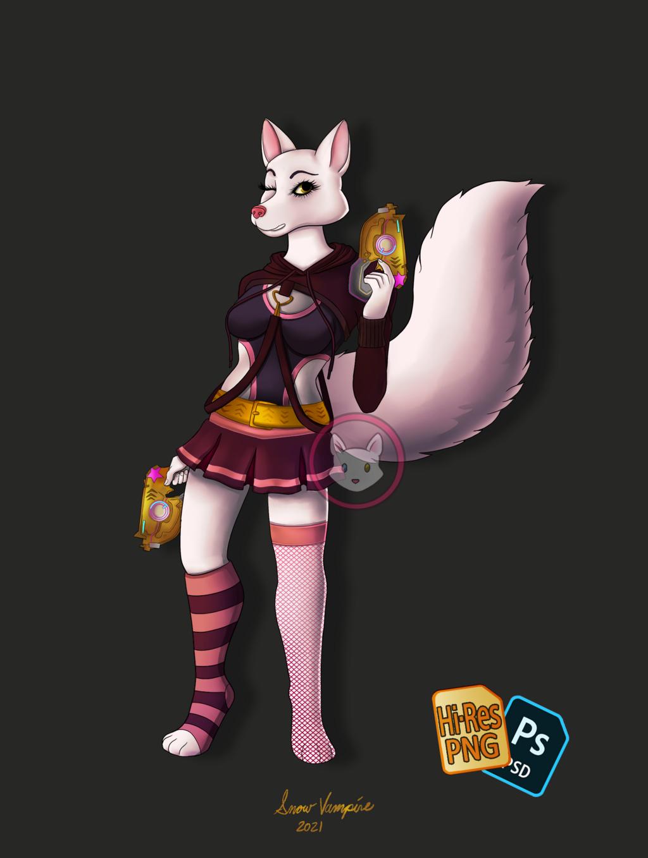 White Fox & Gold Guns
