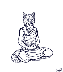 Blackwolf Meditating